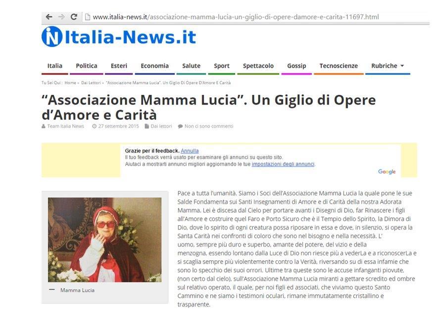 Associazione Mamma Lucia un Giglio di Opere d'Amore e Carità