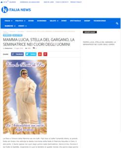 Articolo su Italia-News Mamma Lucia, Stella del Gargano, la Seminatrice nei cuori degli uomini