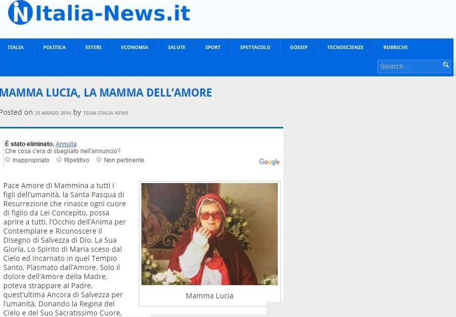 Articolo su Italia News