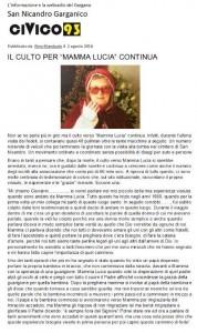 Articolo sul giornale web Civico 93 di San Nicandro Garganico